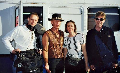 Paul Hogan working on Selling on Australia with Film Crew